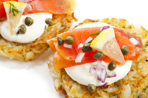 Potato Latkas w. salmon