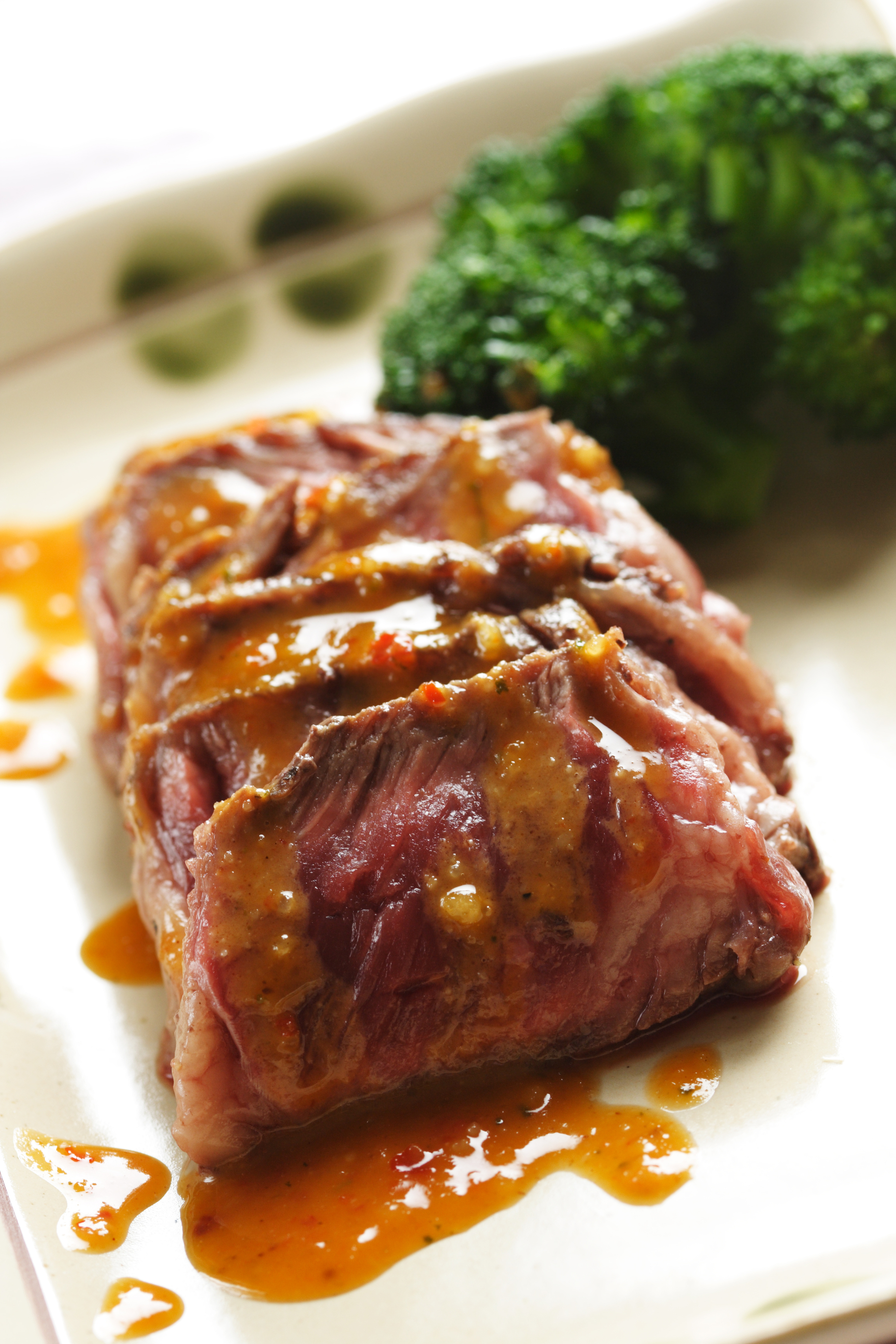 corned beef glazed with apricot