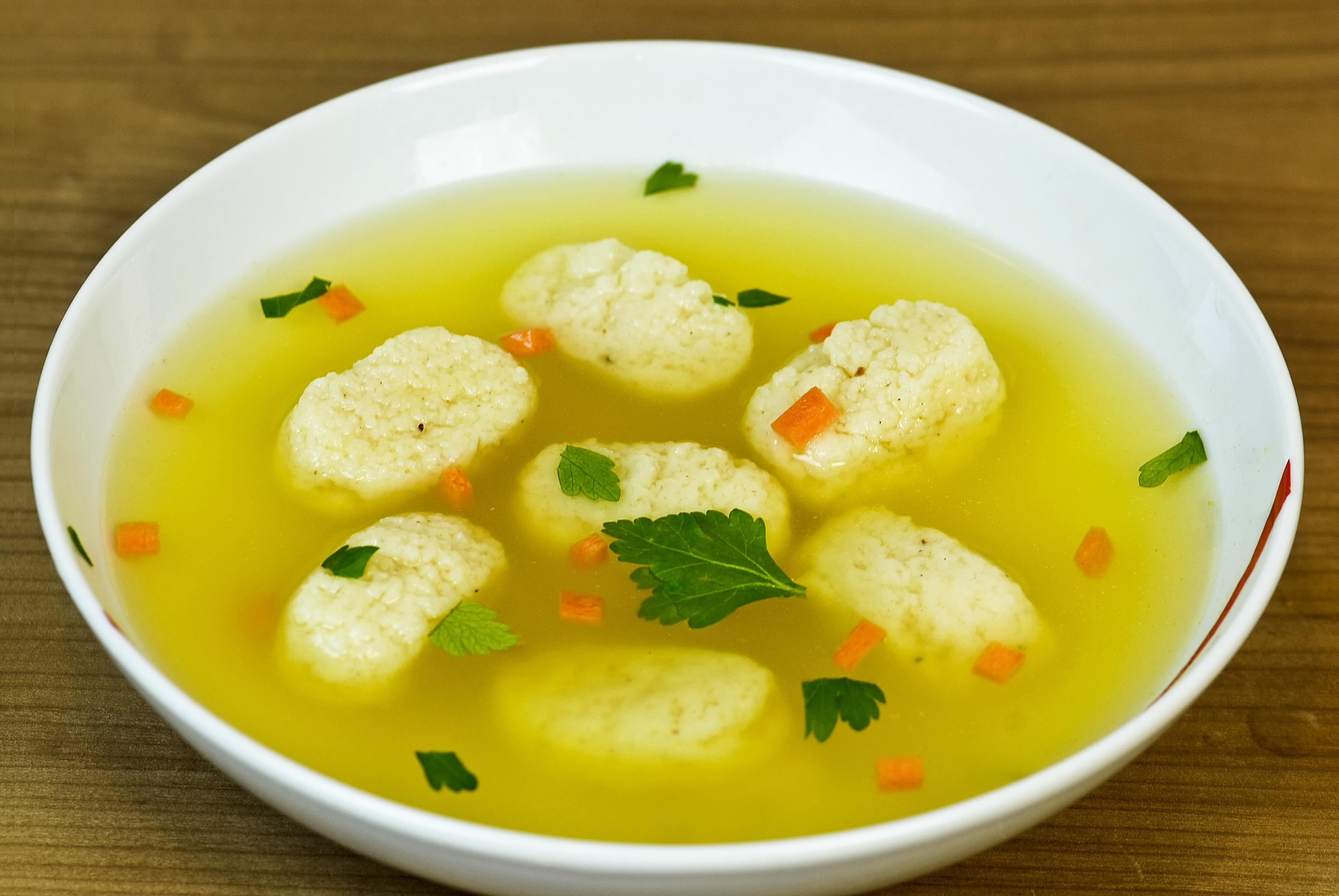 Суп куриный с клёцками пошаговый рецепт